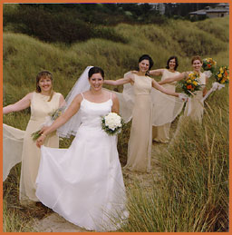 bridal party photos at the beach with Jim Stoffer Photography
